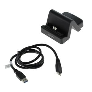 USB Dockingstation  Samsung Micro USB 3.0 Stecker variabler Connector - schwarz