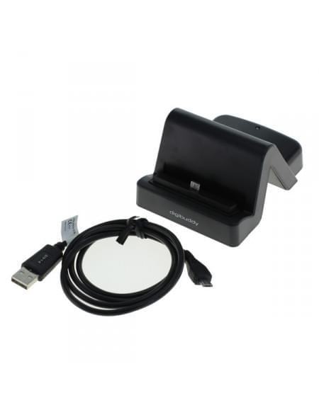 USB Dockingstation 1401 - HTC-Micro-USB-Stecker variabler Connector mittig - schwarz