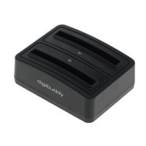 Akkuladestation 1302 Dual für Samsung B800BC - schwarz
