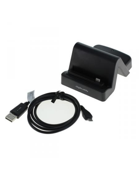 USB Dockingstation 1401 - HTC-Micro-USB-Stecker variabler Connector rechts - schwarz