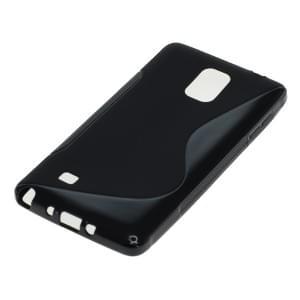Silikon Case / Schutzhülle für Samsung Galaxy Note 4 SM-N910 S-Curve schwarz