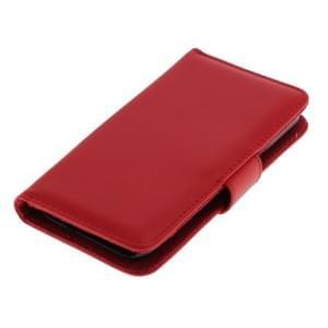 Ledertasche PU Leder für Samsung Galaxy S5 Mini SM-G800 Bookstyle rot