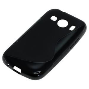 Silikon Case / Schutzhülle für Samsung Galaxy Ace Style (G357) S-Curve schwarz