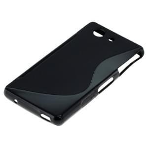Silikon Case / Schutzhülle für Sony Xperia Z3 Compact S-Curve schwarz