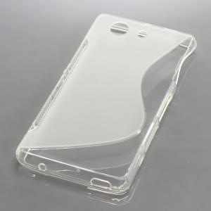 Silikon Case / Schutzhülle für Sony Xperia Z3 Compact S-Curve transparent