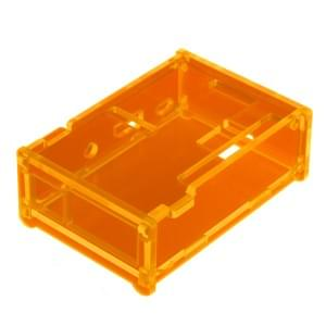 Acryl Gehäuse für Raspberry Pi Model B+ / Pi B+ / Pi 2 transparent orange