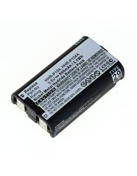 Akku, Ersatzakku für Panasonic HHR-P104 NiMH