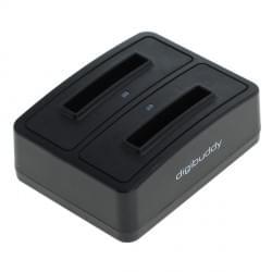 Akku Ladestation 1302 Dual für Akku Nokia BL-5C - schwarz