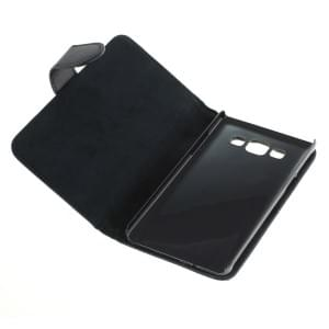 Ledertasche PU Leder für Samsung Galaxy A3 SM-A300 Bookstyle schwarz