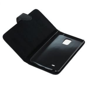 Ledertasche PU Leder für Samsung Galaxy Note Edge SM-N915 Bookstyle schwarz
