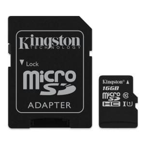 Kingston Speicherkarte microSDHC Class 10 16GB