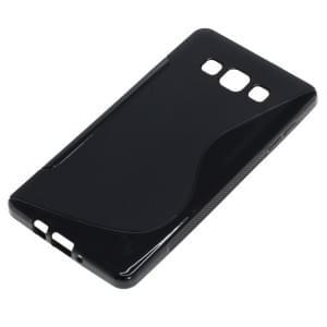 Silikon Case / Schutzhülle für Samsung Galaxy A7 SM-A700 S-Curve schwarz