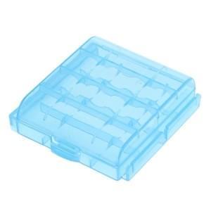 Transportbox für Akkus / Batterien - Mignon (AA) / Micro (AAA) blau