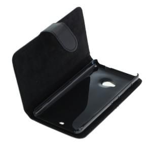 Ledertasche PU Leder für Microsoft Lumia 535 Bookstyle schwarz