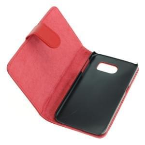 Ledertasche PU Leder für Samsung Galaxy S6 SM-G920 Bookstyle rot