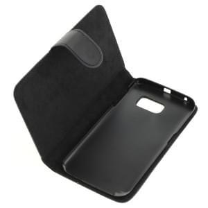 Ledertasche PU Leder für Samsung Galaxy S6 Edge SM-G925 Bookstyle schwarz