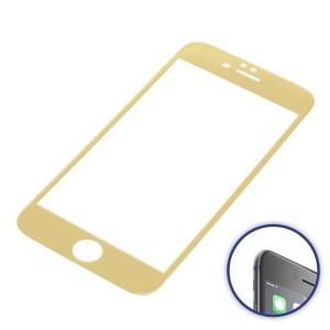 Displayschutzfolie 3D Curved für Apple iPhone 6 / iPhone 6S gold