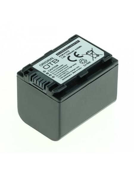 CE zertifiziert Akku, Ersatzakku ersetzt Sony NP-FH70 / NP-FP70 Li-Ion - 1300mAh
