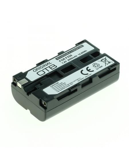 CE zertifiziert Akku, Ersatzakku ersetzt Sony NP-F550 Li-Ion - 2000mAh