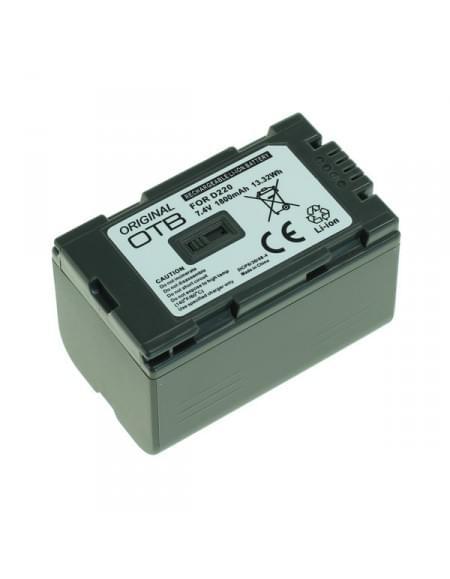 Akku, Ersatzakku ersetzt Panasonic CGR-D220 Li-Ion - 1800mAh