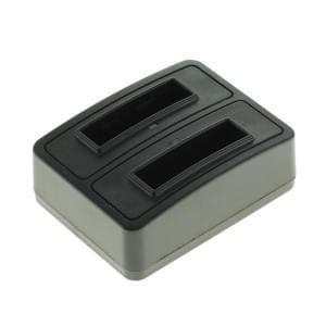 Akkuladestation Dual für Akku Fuji NP-40 / Pentax D-LI85 / Samsung SLB-0737