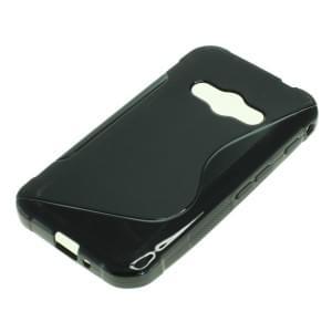 Silikon Case / Schutzhülle für Samsung Galaxy XCover 3 SM-G388F S-Curve schwarz