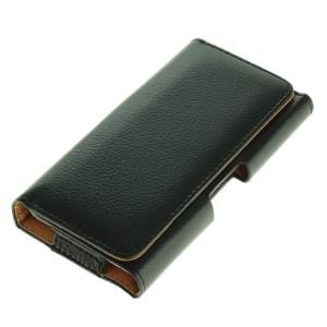 Quertasche / Horizontal Case Ledertasche PU Leder für Smartphones XL (4,5 - 5 Zoll) schwarz