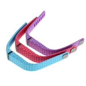 TPU Armband für Fitbit Flex - Größe S - 3er Set - rot/blau/lila mit Punkten
