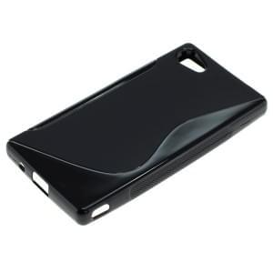Silikon Case / Schutzhülle für Sony Xperia Z5 Compact S-Curve schwarz