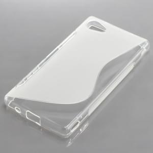 Silikon Case / Schutzhülle für Sony Xperia Z5 Compact S-Curve transparent
