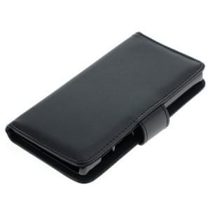 Ledertasche PU Leder für Sony Xperia Z5 Compact Bookstyle schwarz