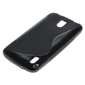 Silikon Case / Schutzhülle für Huawei Y625 S-Curve schwarz