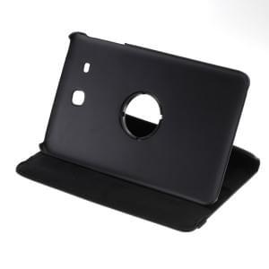 Ledertasche PU Leder für Samsung Galaxy Tab E 9.6 SM-T560 - 360 Grad drehbar - schwarz