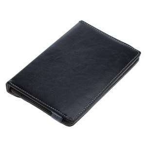 Universal Rotation Bookstyle Kunstledertasche mit Halteklammer für Tablets bis 7 Zoll schwarz