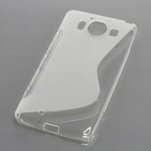 Silikon Case / Schutzhülle für Microsoft Lumia 950 S-Curve transparent