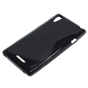 Silikon Case / Schutzhülle für Sony Xperia Style (T3) S-Curve schwarz