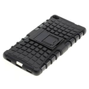 Outdoor Dual Schutzhülle mit Ständer für Huawei P8 schwarz