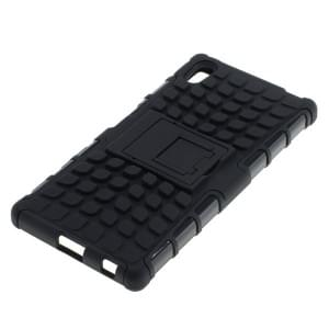 Outdoor Dual Schutzhülle mit Ständer für Sony Xperia Z5 schwarz