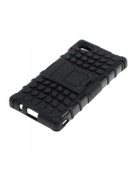Outdoor Dual Schutzhülle mit Ständer für Sony Xperia Z5 Compact schwarz
