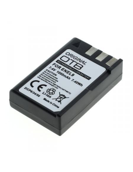 CE zertifiziert Akku, Ersatzakku für Nikon D40 / D40x / D60 / D3000 / D5000 ersetzt  EN-EL9 / EN-EL9a Li-Ion