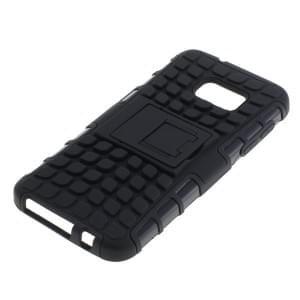 Outdoor Dual Schutzhülle mit Ständer für Samsung Galaxy S7 SM-G930 schwarz