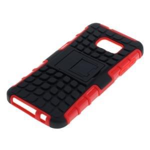 Outdoor Dual Schutzhülle mit Ständer für Samsung Galaxy S7 SM-G930 schwarz-rot