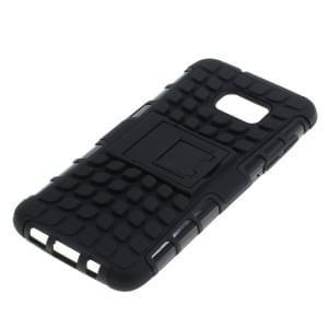 Outdoor Dual Schutzhülle mit Ständer für Samsung Galaxy S7 Edge SM-G935 schwarz