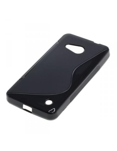 Silikon Case / Schutzhülle für Microsoft Lumia 550 S-Curve schwarz