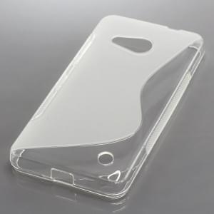 Silikon Case / Schutzhülle für Microsoft Lumia 550 S-Curve transparent