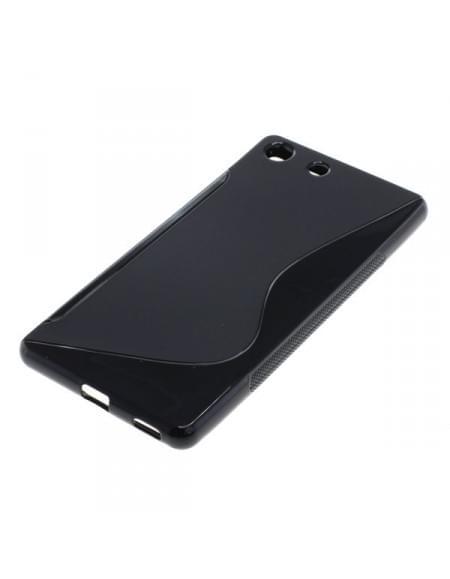 Silikon Case / Schutzhülle für Sony Xperia M5 S-Curve schwarz