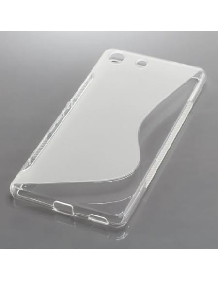 Silikon Case / Schutzhülle für Sony Xperia M5 S-Curve transparent