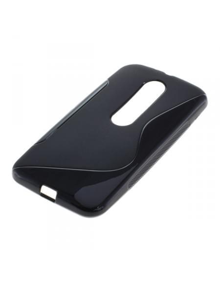 Silikon Case / Schutzhülle für Motorola Moto G (3rd Generation) S-Curve schwarz