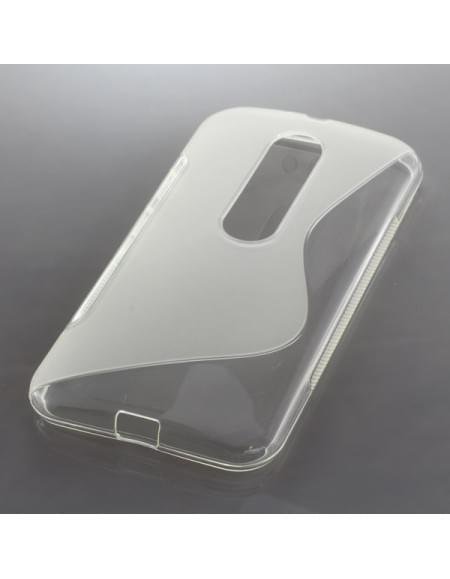 Silikon Case / Schutzhülle für Motorola Moto G (3rd Generation) S-Curve transparent