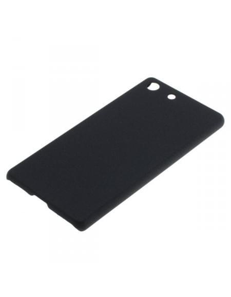 Backcover Case / Schutzhülle für Sony Xperia M5 - Sandstruktur - schwarz